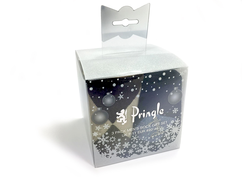 Christmas pringle packaging