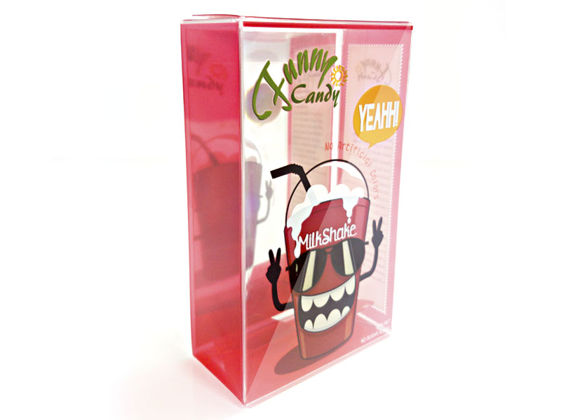 Red Clear Candy Packaging