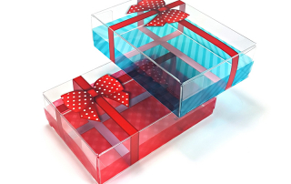 HLP Klearfold clear christmas packaging