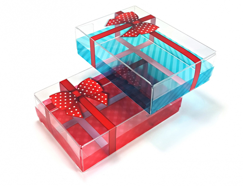 Clear Christmas present packaging