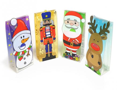 Fun Christmas clear packaging